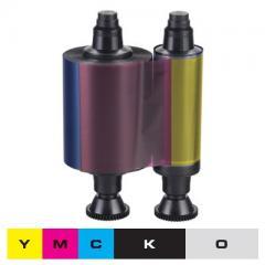 Ruban couleur 1/2 YMCKO Evolis Pebble4, Dualys3 - 400 faces