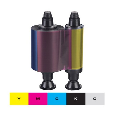 Ruban couleur YMCKO Evolis Pebble4, Dualys3 - 200 faces