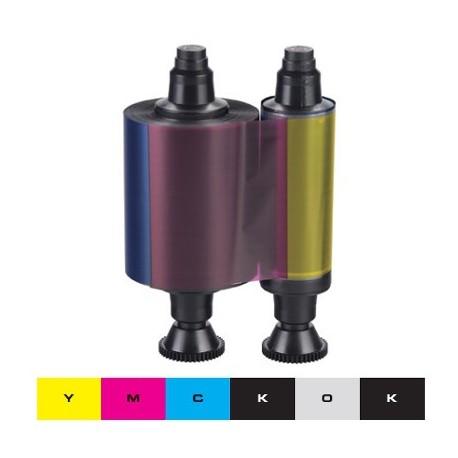 Ruban couleur YMCKO-K Evolis Dualys3 - 200 faces