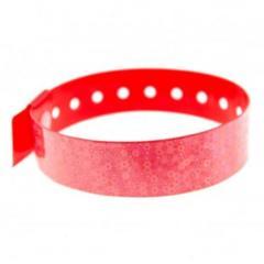 Bracelets événementiels holographiques 3D bulles rouge