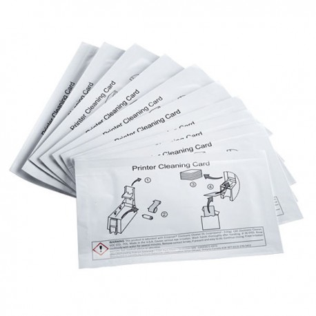 10 cartes adhésives nettoyantes Datacard CR508