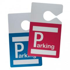 Badge parking rétroviseur