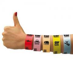 "Zebra Z-Band Splash ""Rouge"" - 25 mm x 254 mm - bracelets pour Zebra desktop"
