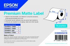 Epson rouleau d'étiquettes, papier normal, 76 mm IM C33S045418