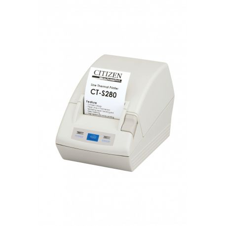 Citizen CT-S280, RS232, 8 pts/mm (203 dpi), blanc IM CTS280RSEWH