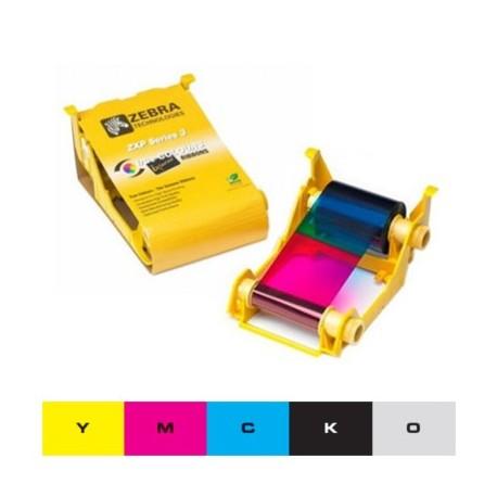 Ruban couleur YMCKO Zebra ZXP3, 280 faces