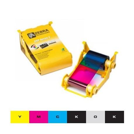 Ruban couleur YMCKOK Zebra ZXP3 - 230 faces