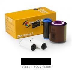 Ruban Noir Zebra ZXP7 - 5000 faces