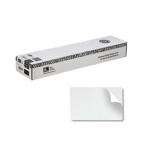 Cartes PVC adhésives Zebra 0.25mm - lot de 500