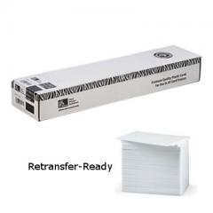 Cartes PVC Zebra 0.76 mm Retransfer-Ready - lot de 500