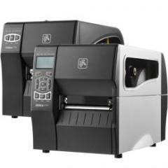imprimante d'étiquettes Zebra ZT230, 12 pts/mm (300 dpi), décolleur, écran, ZPLII, RS232, Ethernet, USB IM ZT23043-T1E200FZ