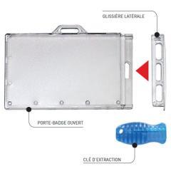 IDS76 - Porte-badge à glissière