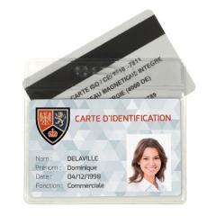 IDS38 2 cartes - porte-badge souple