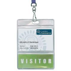IDS39 - Porte-badge souple pour carte + étiquette