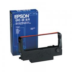 Epson ERC 38 Ruban couleur noir, rouge pour TM-U 210, TM-U 220, TM-U 200, TM-U 230, TM-U 375 IM C43S015376