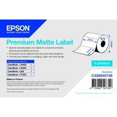 Rouleau d'étiquettes Epson papier normal, 76x127mm IM C33S045726