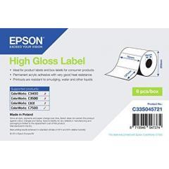 Rouleau d'étiquettes Epson papier normal, 76x127mm IM C33S045721