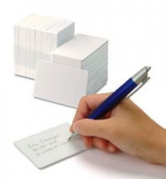 Carte plastique Zebra Premier blanc au recto et inscriptible au dos IM 104523-117