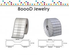 Zebra 8000D Jewelry - 53 mm x 13 mm - étiquettes bijouterie (sans rabats)