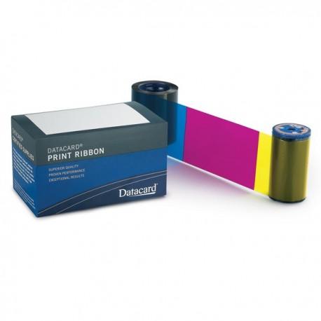 Ruban couleur YMCKT-KT Datacard CD800, CP - 375 faces