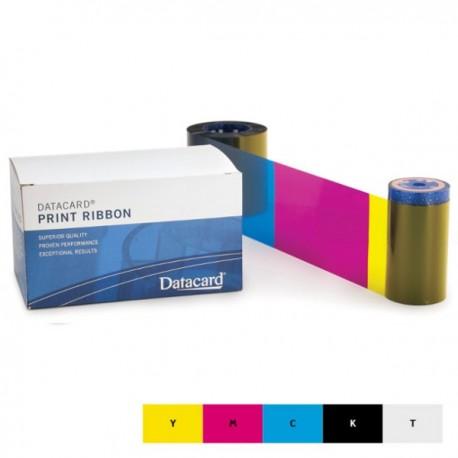 Ruban couleur YMCKT Datacard SP25, SP25 Plus - 125 faces