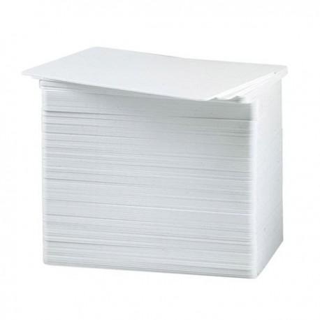 Cartes PVC Datacard 0.76mm blanches - lot de 500