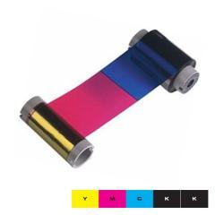 Ruban couleur YMCKK HID Fargo DTC550 - 500 faces