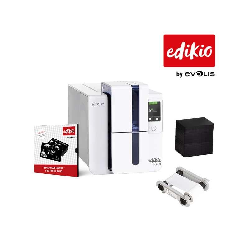 Imprimante Evolis Edikio Duplex - étiquettes de prix plastiques