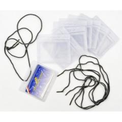 Kit 10 Porte-badges souples avec cordons lacets