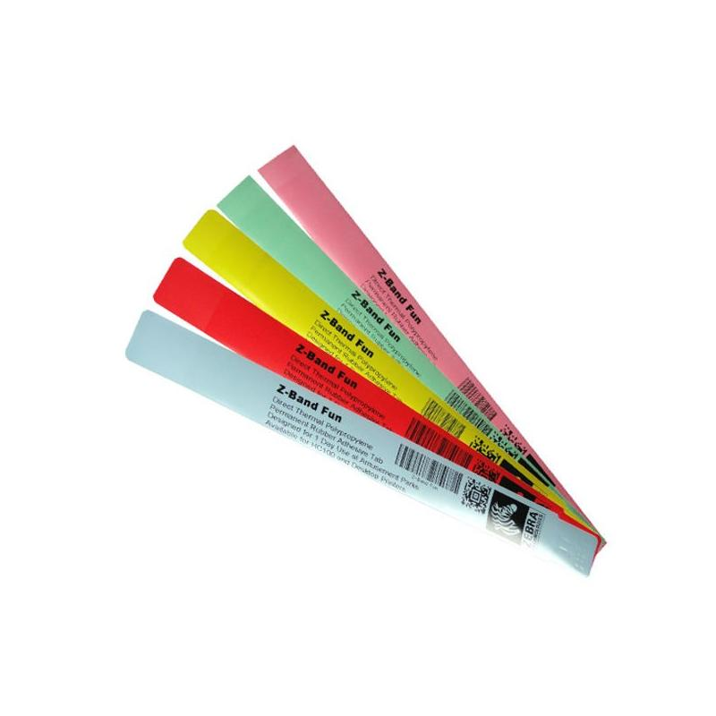 "Zebra Z-Band Fun ""Rouge"" - 25 mm x 254 mm - bracelets pour Zebra desktop"