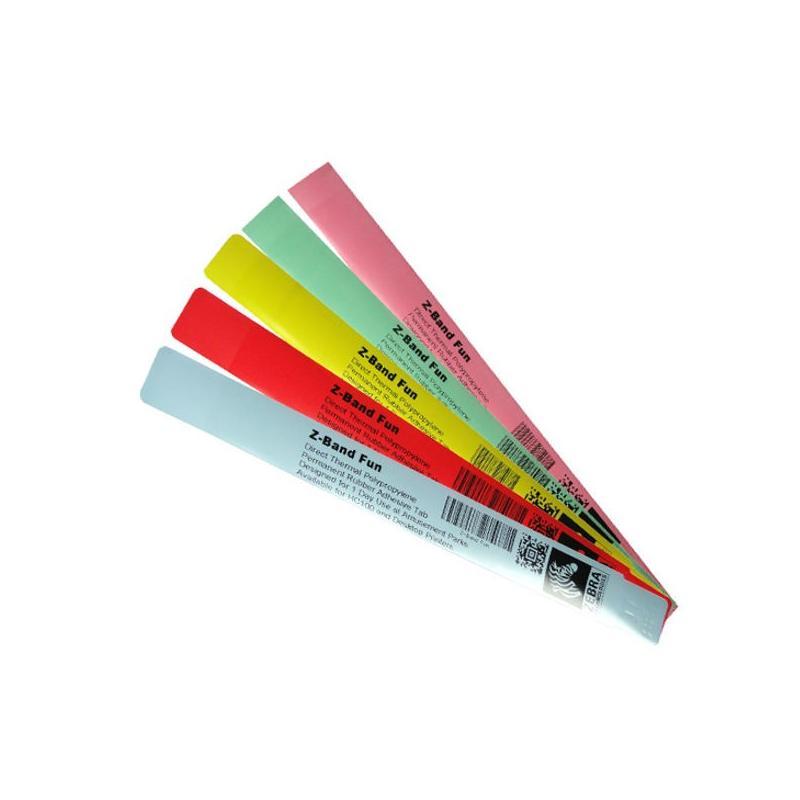 "Zebra Z-Band Fun ""Rose"" - 25 mm x 254 mm - bracelets pour Zebra desktop"