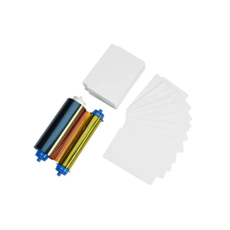 cartes pvc perforee film couleur Zebra ZC10L