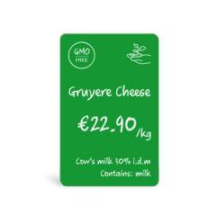 Cartes PVC Verte Evolis
