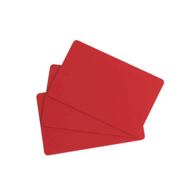 Cartes PVC Rouge Evolis