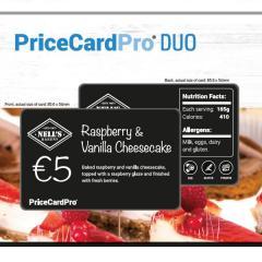 étiquettes prix PriceCardPro Duo