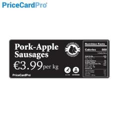 Cartes, étiquettes de prix noires mates Magicard - 110x54mm
