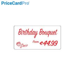 Cartes PriceCardPro Flex blanches Magicard - 110x54mm