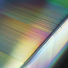 Cartes PVC bord argent holograpique