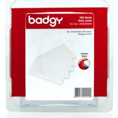 Pack 100 cartes PVC 0.76 mm Evolis Badgy100, badgy 200