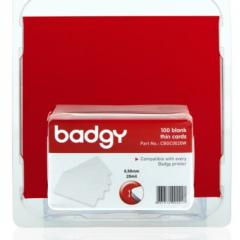 Pack 100 cartes PVC 0.50 mm Evolis Badgy100, badgy200