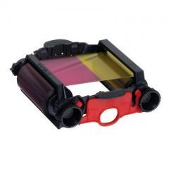 Kit 1 ruban YMCKO 100 faces + 1 kit de nettoyage EVOLIS Badgy
