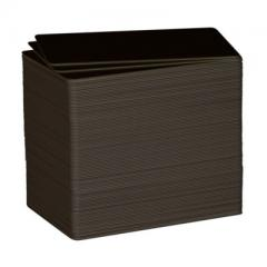 Cartes noires mates C8001 evolis edikio