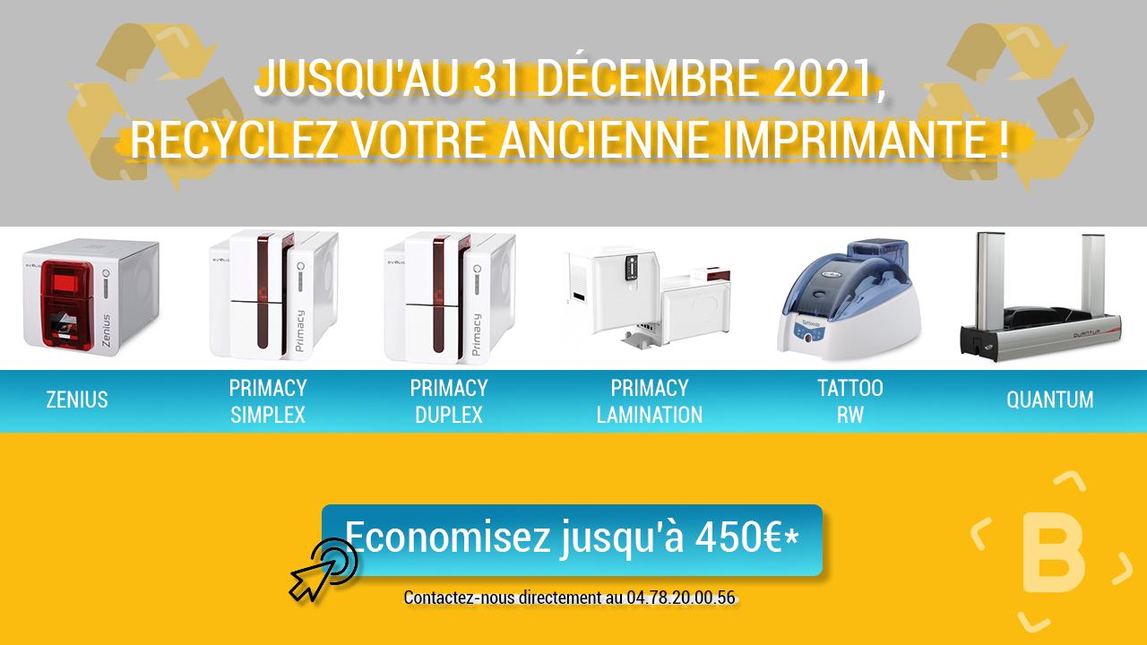 Offre de reprise imprimante badges & cartes Evolis 2021